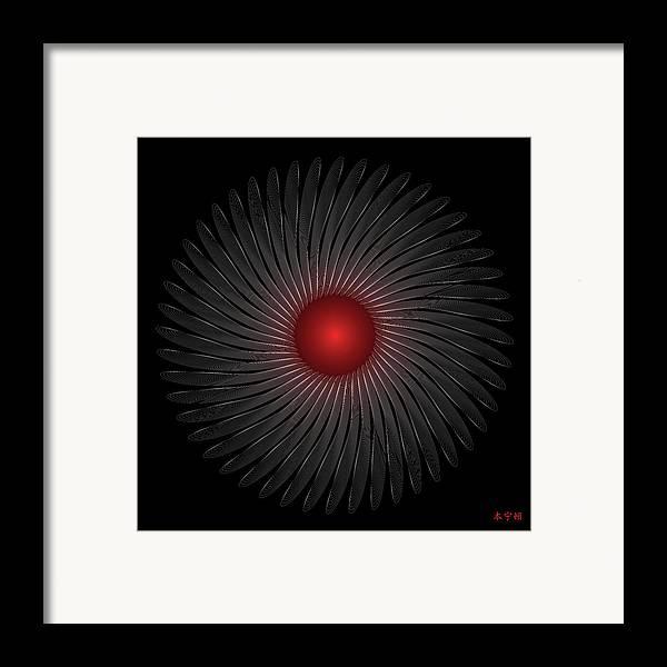 Mandala Framed Print featuring the digital art Mandala No. 79 by Alan Bennington
