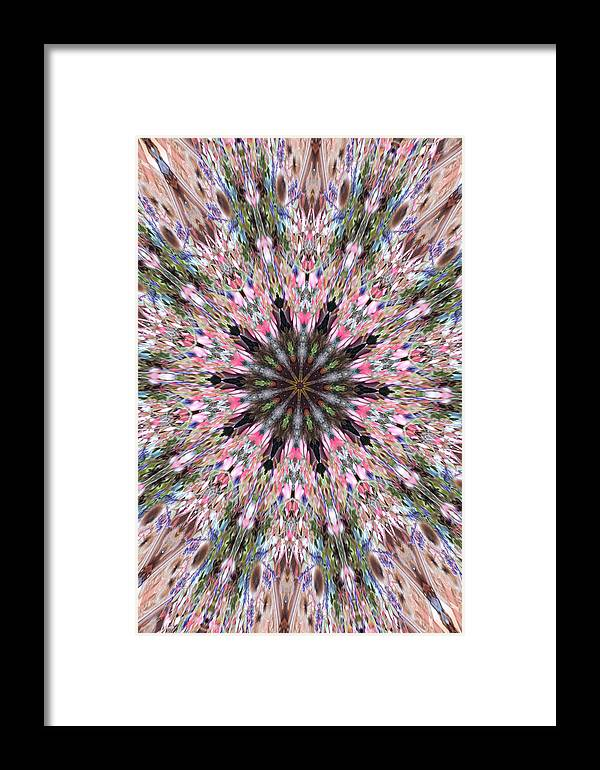 Digital Photography Framed Print featuring the photograph Mandala Of Cherry Blossom by Wendy Le Ber