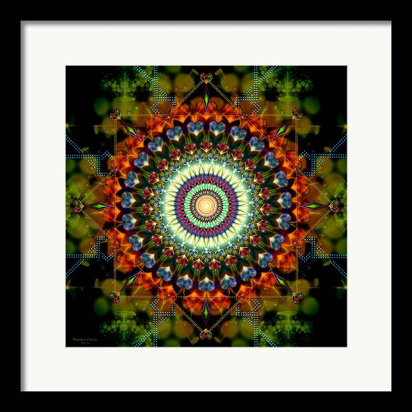 Mandala Framed Print featuring the digital art Mandala Of Loves Journey by Stephen Lucas