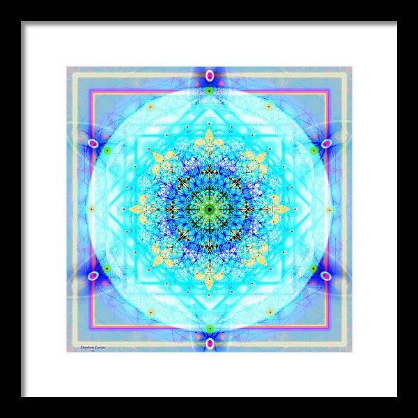 Mandala Framed Print featuring the digital art Mandala Of Womans Spiritual Genesis by Stephen Lucas