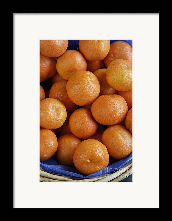 Fruit Framed Print featuring the photograph Mandarins by Steve Outram