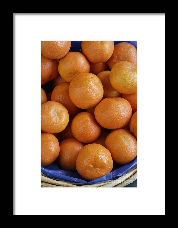Fruit Framed Print featuring the photograph Mandarins by Steve Outram