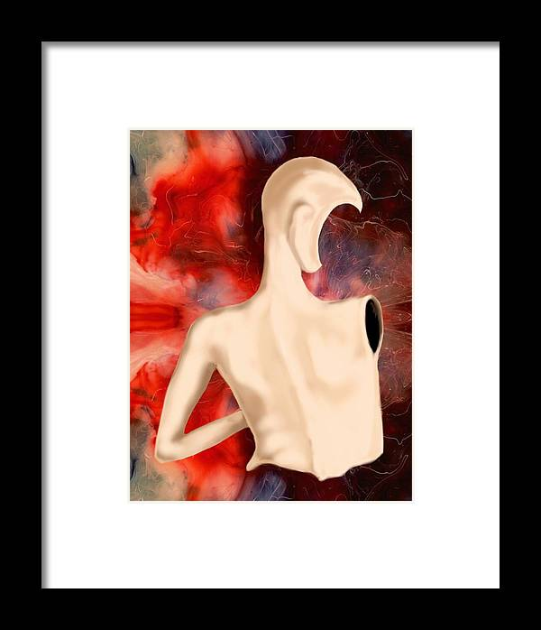 Woman Fashion Naked Surreal Abstract Framed Print featuring the digital art Manequin by Veronica Jackson