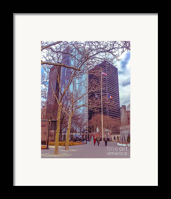 Urban Framed Print featuring the photograph Manhattan by Claudia M Photography