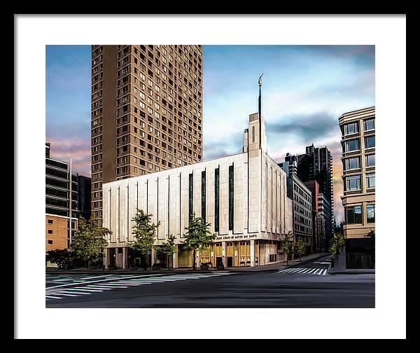 Manhattan Lds Temple Framed Print By Brent Borup