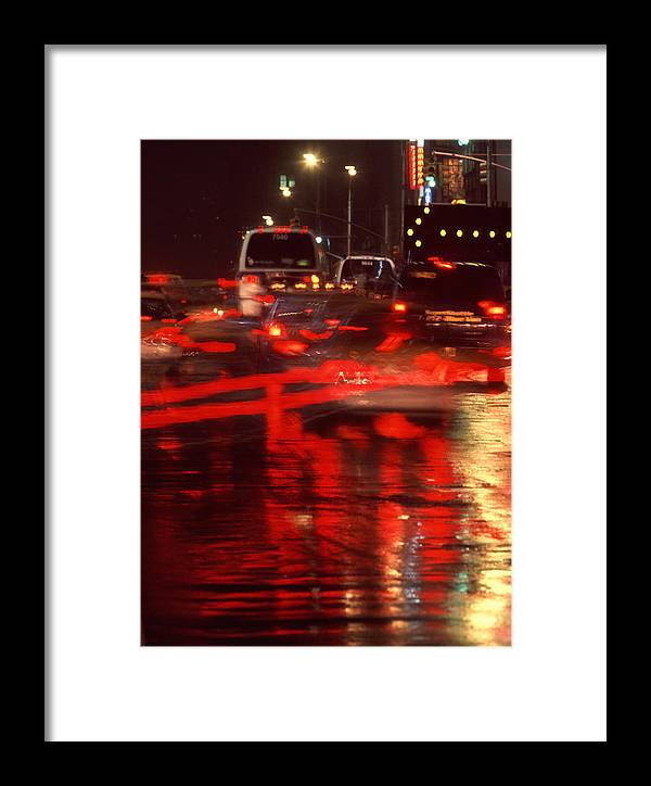 Nyc Framed Print featuring the photograph Manhattan Night by Brad Rickerby