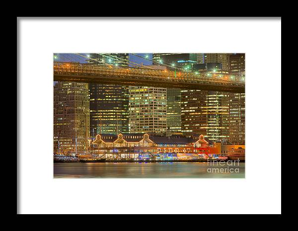 Clarence Holmes Framed Print featuring the photograph Manhattan Night Skyline I by Clarence Holmes
