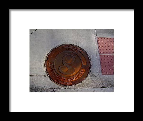 Manhole Framed Print featuring the photograph Manhole I by Flavia Westerwelle