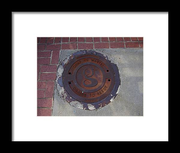 Manhole Framed Print featuring the photograph Manhole II by Flavia Westerwelle