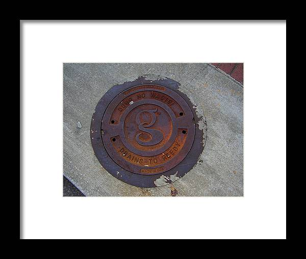 Manhole Framed Print featuring the photograph Manhole IIi by Flavia Westerwelle