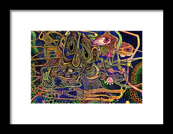 Color Framed Print featuring the drawing Manic Depression by James Hammons