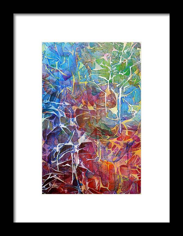 Abstract Framed Print featuring the painting Manna by Arlissa Vaughn