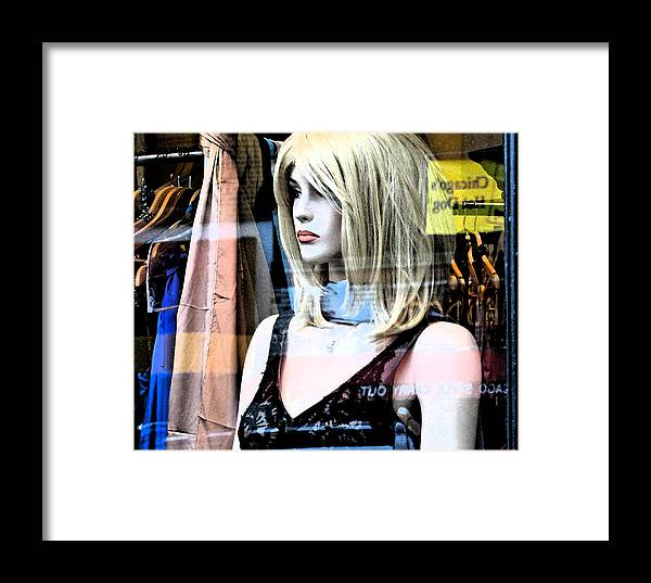 Modern Framed Print featuring the photograph Mannequin Window 4 by Gary Everson