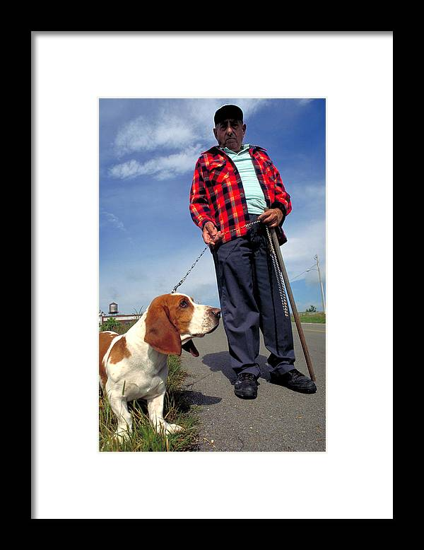 Dog Framed Print featuring the photograph Man's Best Friend by Carl Purcell