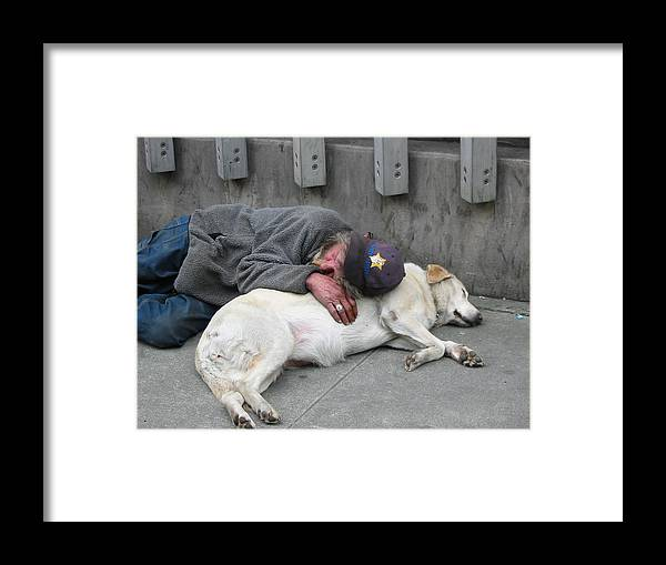 Photo Framed Print featuring the photograph Man's Best Friend by Mirinda Kossoff