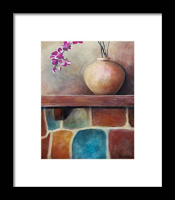Mantel Framed Print featuring the painting Mantel Beauty by Jun Jamosmos