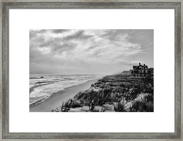 Jersey shore framed print featuring the photograph mantoloking beach jersey shore by angie tirado