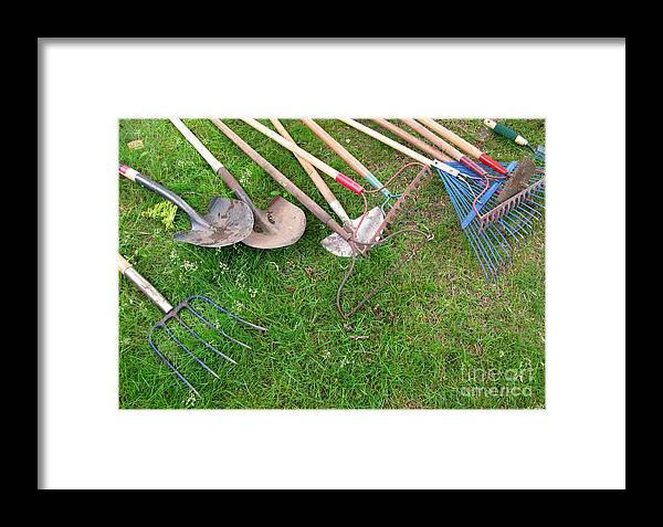 Tools Framed Print featuring the photograph Many Hands Make Light Work by Ann Horn