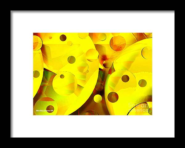 Suns Framed Print featuring the digital art Many Suns by Shelley Jones
