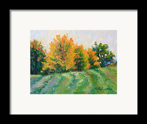 Impressionism Framed Print featuring the painting Maple Grove by Keith Burgess