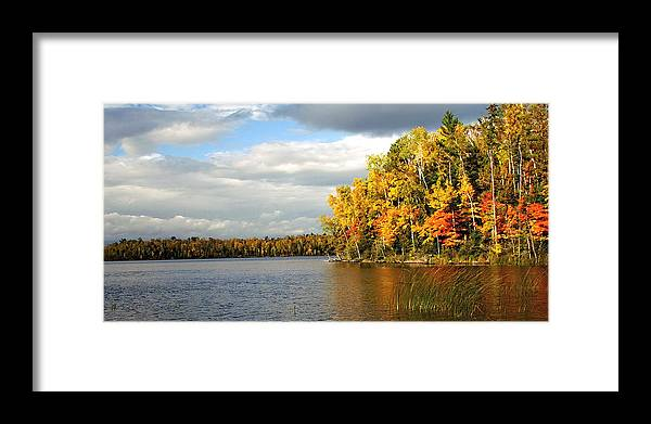 Minnesota Framed Print featuring the photograph Maple Lake by Bill Morgenstern