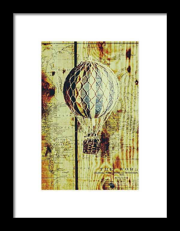 Mapping A Hot Air Balloon Framed Print by Jorgo Photography - Wall ...