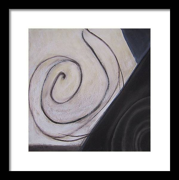 Abstract Framed Print featuring the drawing Mapping by Carol Reed