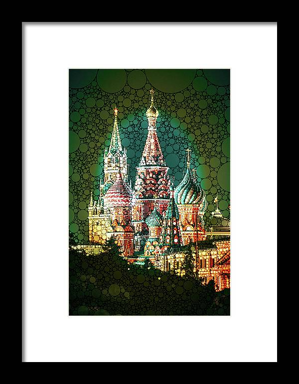 Mar-a-moscow Framed Print featuring the mixed media Mar-a-moscow by Susan Maxwell Schmidt