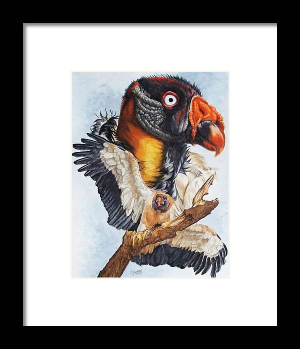 Vulture Framed Print featuring the mixed media Marauder by Barbara Keith