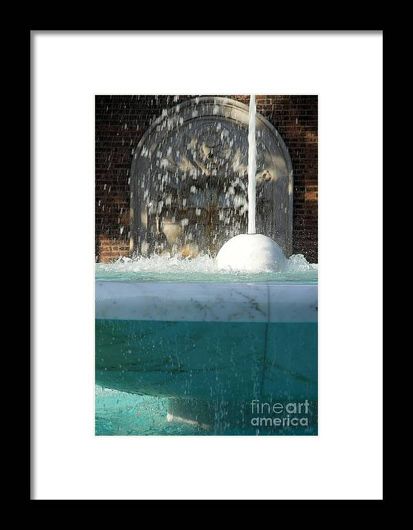 Fountain Framed Print featuring the photograph Marble Fountain Shower by Clay Cofer