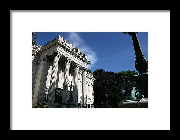 Marble House Framed Print featuring the photograph Marble House by Jeff Porter