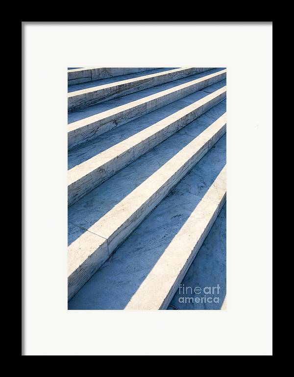 Architectural Detail Framed Print featuring the photograph Marble Steps, Jefferson Memorial, Washington Dc, Usa, North America by Paul Edmondson
