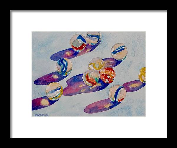 Marbles Framed Print featuring the painting Marbles by Jo Mackenzie