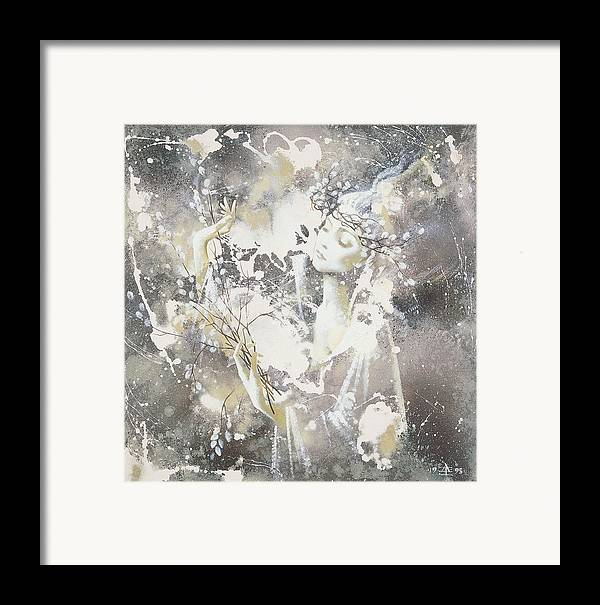 Figures Framed Print featuring the painting March by Andrej Vystropov