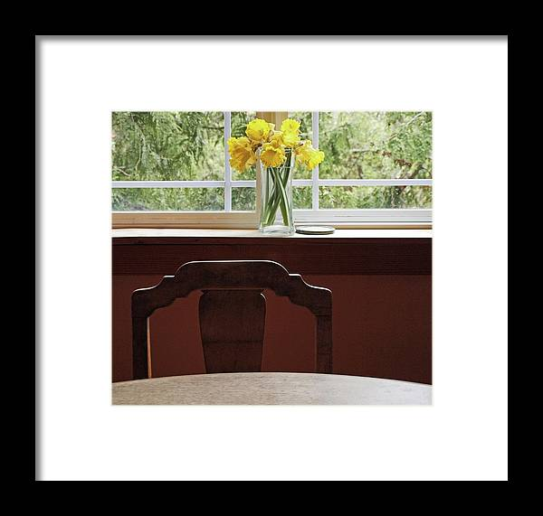 Flowers Daffodils Framed Print featuring the photograph March by Laurie Stewart
