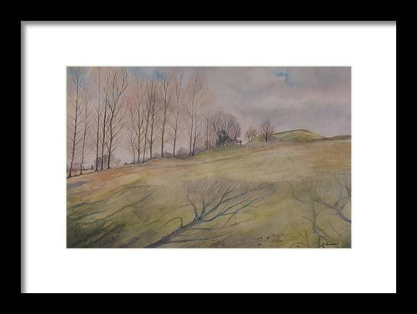 Shadows Framed Print featuring the painting March Shadows by Debbie Homewood