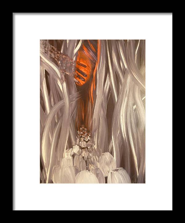 Surrealist Framed Print featuring the painting March To The Sunset by Zsuzsa Sedah Mathe