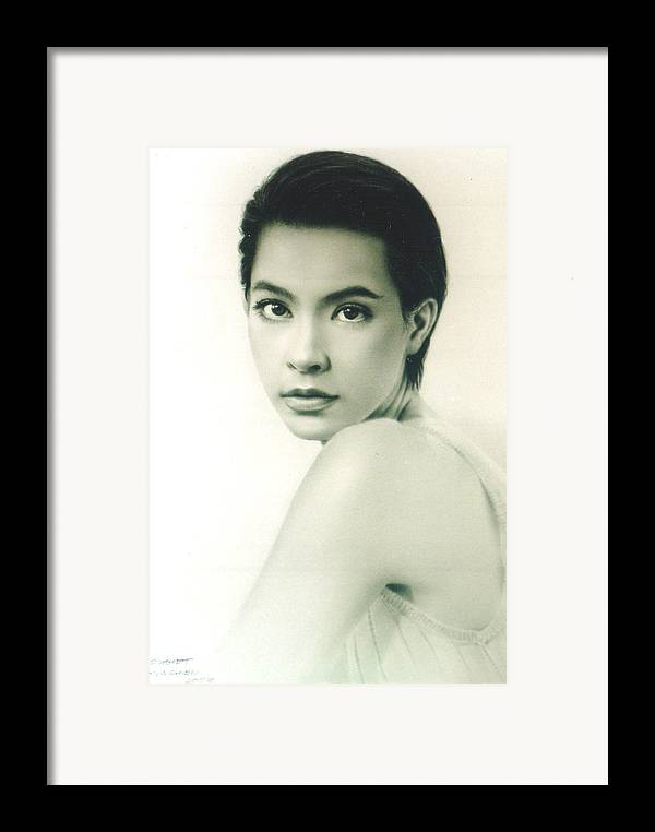 Portrait Framed Print featuring the painting Marcha by Chonkhet Phanwichien