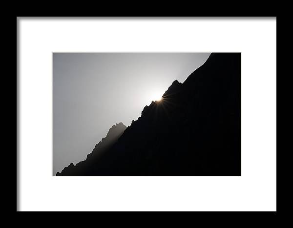 Mountains Framed Print featuring the photograph Mountain Sunset by Marco Missiaja