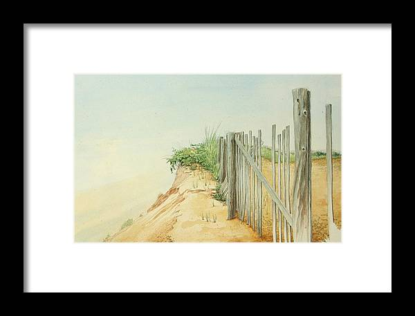 Landscape Framed Print featuring the painting Marconi Beach by Stephen Bluto