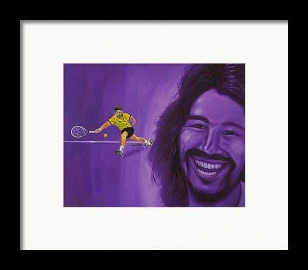 Marcos Framed Print featuring the painting Marcos Baghdatis by Quwatha Valentine