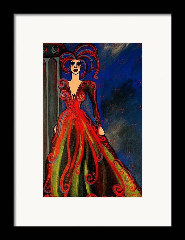 Couture Artwork Framed Print featuring the painting Mardi Gras by Helen Gerro
