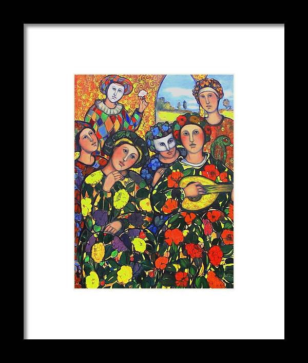 Framed Print featuring the painting Mardis Gras by Marilene Sawaf