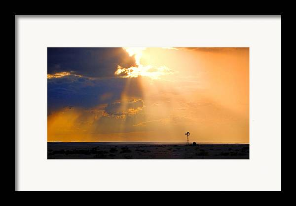 Skip Hunt Framed Print featuring the photograph Marfa Windmill 1 by Skip Hunt