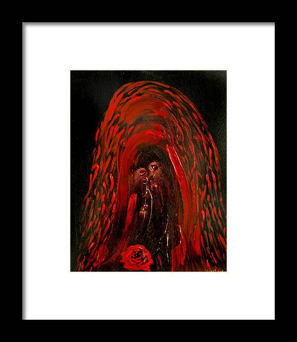 Goddess Framed Print featuring the painting Maria De La Rosa by Emerald GreenForest