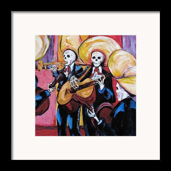 Mariachi Framed Print featuring the painting Mariachi IIi by Sharon Sieben