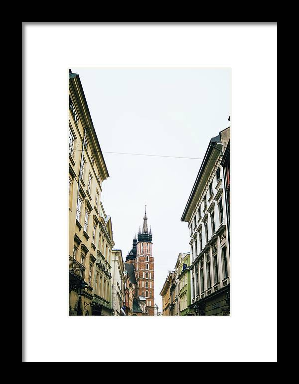 Krakow Framed Print featuring the photograph Mariacki From Florianska by Pati Photography
