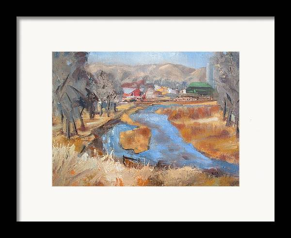 Landscape Framed Print featuring the painting Marias Ranch by Bryan Alexander