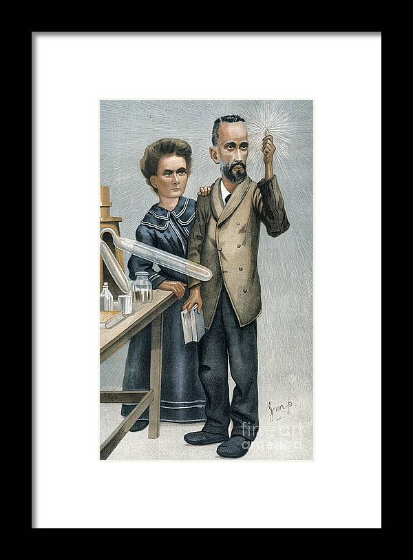 1904 Framed Print featuring the photograph Marie And Pierre Curie by Granger