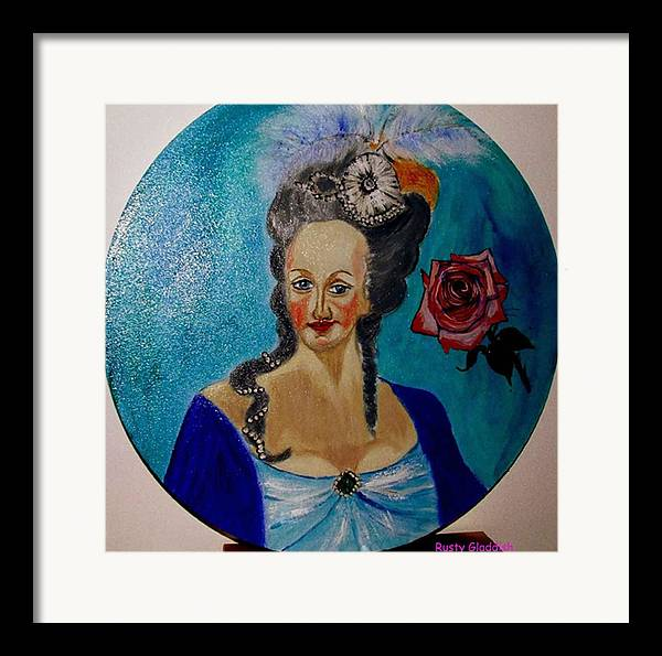 Guillotine Framed Print featuring the painting Marie Antoinette by Rusty Woodward Gladdish